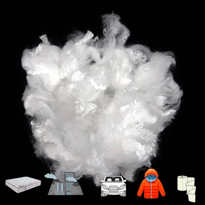 Soft Polyester Staple Fiber , Solid Non Siliconized Regenerated Low Melt Fiber